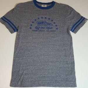Vans Men's T-Shirt  Size Medium Gray And Blue